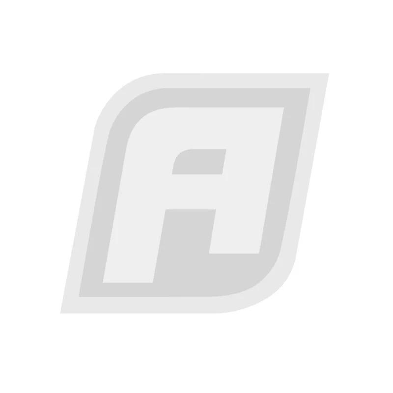 AF930-08-06BLK - Y-Block -8AN Inlet, -6AN Outlets